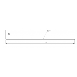 Tôle départ Alu Ventilée Packiso® prof. 280 mm RAL 1013