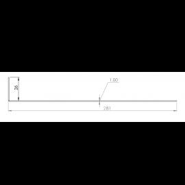 Tôle départ Alu Ventilée Packiso® prof. 280 mm RAL 5024