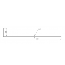 Tôle départ Alu Ventilée Packiso® prof. 280 mm RAL 7016