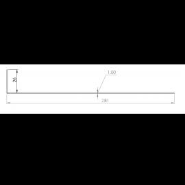 Tôle départ Alu Ventilée Packiso® prof. 280 mm RAL 7022