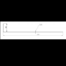 Tôle départ Alu Ventilée Packiso® prof. 280 mm RAL 7032