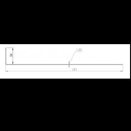 Tôle départ Alu Ventilée Packiso® prof. 280 mm RAL 7035