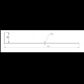 Tôle départ Alu Ventilée Packiso® prof. 280 mm RAL 7040