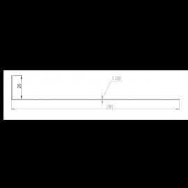 Tôle départ Alu Ventilée Packiso® prof. 280 mm RAL 8008
