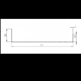 Tôle Départ Alu Ventilée prof. 121 mm Tasseaux 27 mm RAL 7040