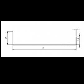 Tôle Départ Alu Ventilée prof. 121 mm Tasseaux 27 mm RAL 1019