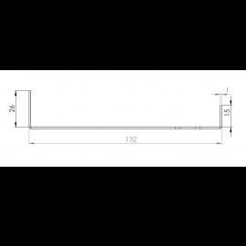 Tôle Départ Alu Ventilée prof. 132 mm Tasseaux 40 mm RAL 1015