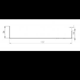 Tôle Départ Alu Ventilée prof. 132 mm Tasseaux 40 mm RAL 1019
