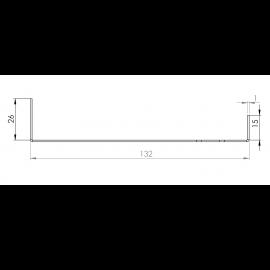 Tôle Départ Alu Ventilée prof. 132 mm Tasseaux 40 mm RAL 7035
