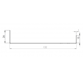Tôle Départ Alu Ventilée prof. 132 mm Tasseaux 40 mm RAL 8008