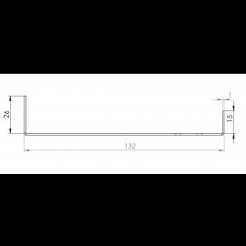 Tôle Départ Alu Ventilée prof. 132 mm Tasseaux 40 mm RAL 9016