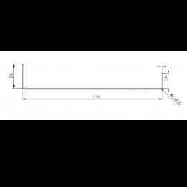 Tôle Départ Alu Ventilée prof. 144 mm Tasseaux 50 mm RAL 1015