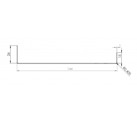 Tôle Départ Alu Ventilée prof. 144 mm Tasseaux 50 mm RAL 7016
