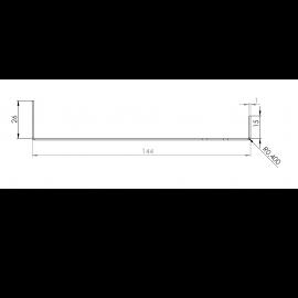 Tôle Départ Alu Ventilée prof. 144 mm Tasseaux 50 mm RAL 9016