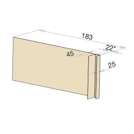 Tôle Ébrasement Alu prof. 180 mm Bardage ép. 22 mm RAL 1015