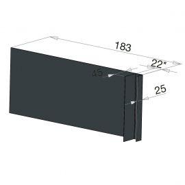 Tôle Ébrasement Alu prof. 180 mm Bardage ép. 22 mm RAL 7016