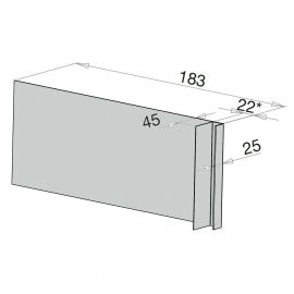 Tôle Ébrasement Alu prof. 180 mm Bardage ép. 22 mm RAL 7035