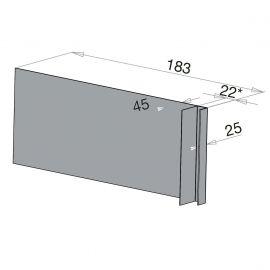 Tôle Ébrasement Alu prof. 180 mm Bardage ép. 22 mm RAL 7040