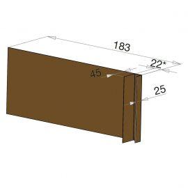 Tôle Ébrasement Alu prof. 180 mm Bardage ép. 22 mm RAL 8008