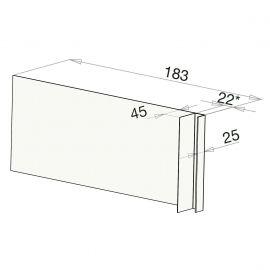 Tôle Ébrasement Alu prof. 180 mm Bardage ép. 22 mm RAL 9016