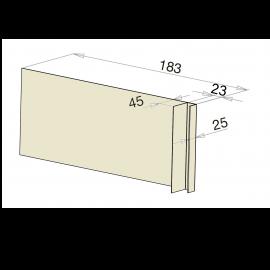 Tôle Ébrasement Alu prof. 180 mm Bardage ép. 23 mm RAL 1013