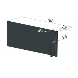 Tôle Ébrasement Alu prof. 180 mm Bardage ép. 29 mm RAL 7016