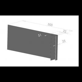 Tôle Ébrasement Alu prof. 500 mm Bardage ép. 22 mm RAL 7016