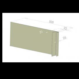 Tôle Ébrasement Alu prof. 500 mm Bardage ép. 22 mm RAL 7032