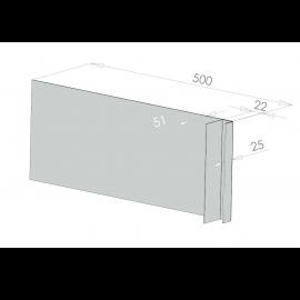 Tôle Ébrasement Alu prof. 500 mm Bardage ép. 22 mm RAL 7035