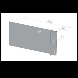 Tôle Ébrasement Alu prof. 500 mm Bardage ép. 22 mm RAL 7040