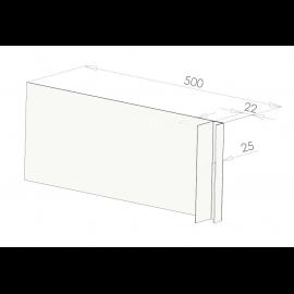 Tôle Ébrasement Alu prof. 500 mm Bardage ép. 22 mm RAL 9016