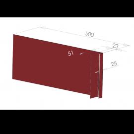 Tôle Ébrasement Alu prof. 500 mm Bardage ép. 23 mm RAL 3011
