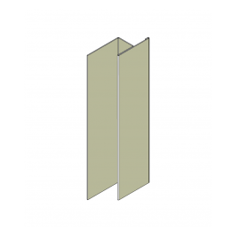 Profil en H Alu Bardage 23 mm RAL 7032