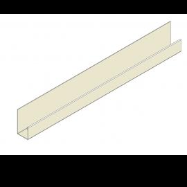 Profil en J Alu Bardage 23 mm RAL 1013