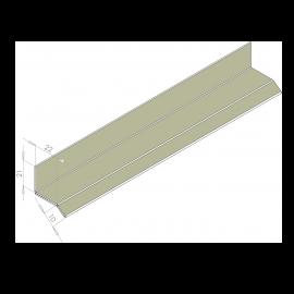 Larmier Alu 22 mm RAL 7032