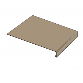 Tôle Rive Ajustable Alu prof. 250 mm RAL 1019