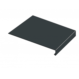 Tôle Rive Ajustable Alu prof. 250 mm RAL 7016