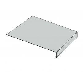 Tôle Rive Ajustable Alu prof. 250 mm RAL 7035