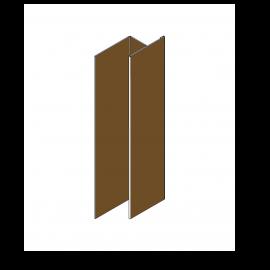 Tôle en H Alu RAL 8008