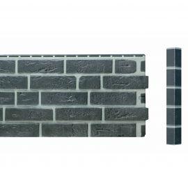 Bardage Fibre de verre Vinybrick® Aspect brique standard Gris anthracite