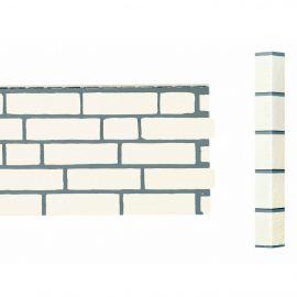 Bardage Fibre de verre Vinybrick® Aspect brique standard Blanc cassé