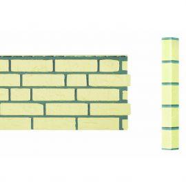 Bardage Fibre de verre Vinybrick® Aspect brique standard Ivoire
