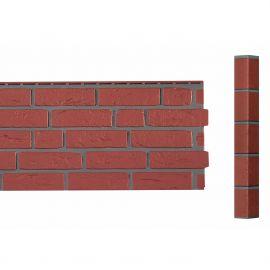 Bardage Fibre de verre Vinybrick® Aspect brique standard Brique rouge