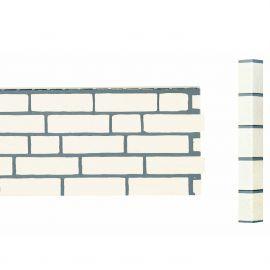 Bardage Fibre de verre Vinybrick® Aspect brique sablée Blanc cassé