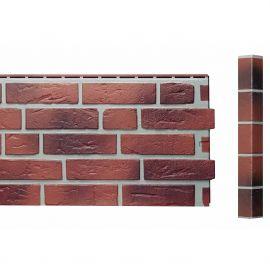 Angle Brique Standard Vinybrick® 420 x 45 x 45 mm Rouge flammé