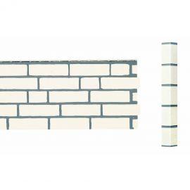 Angle Brique Sablée Vinybrick® 420 x 45 x 45 mm Blanc cassé