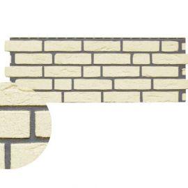 Angle Brique Sablée Vinybrick® 420 x 45 x 45 mm Ivoire