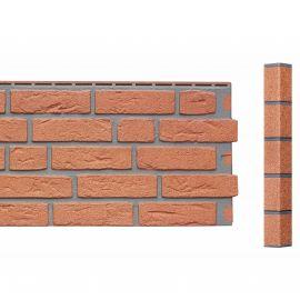 Angle Brique Sablée Vinybrick® 420 x 45 x 45 mm Brique rouge