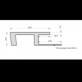 Profil de Raccord Zumaclin® Blanc polaire