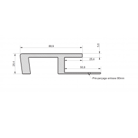 Profil de Raccord Zumaclin® Ivoire